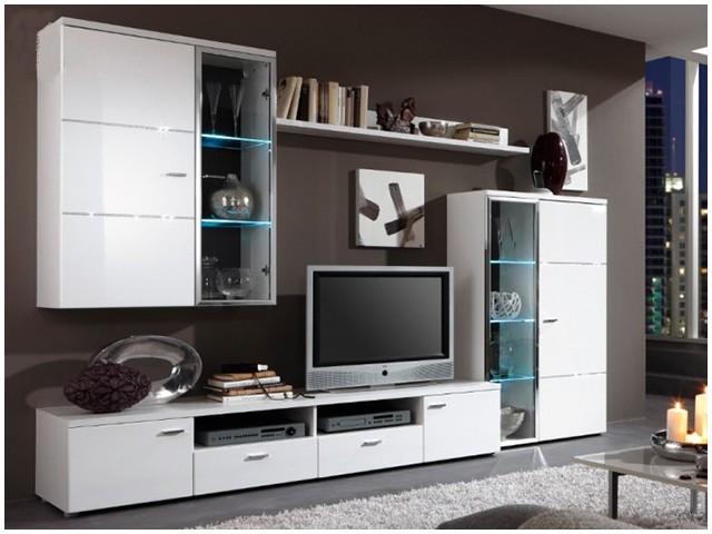 Глянцевая мебель для гостиной фото