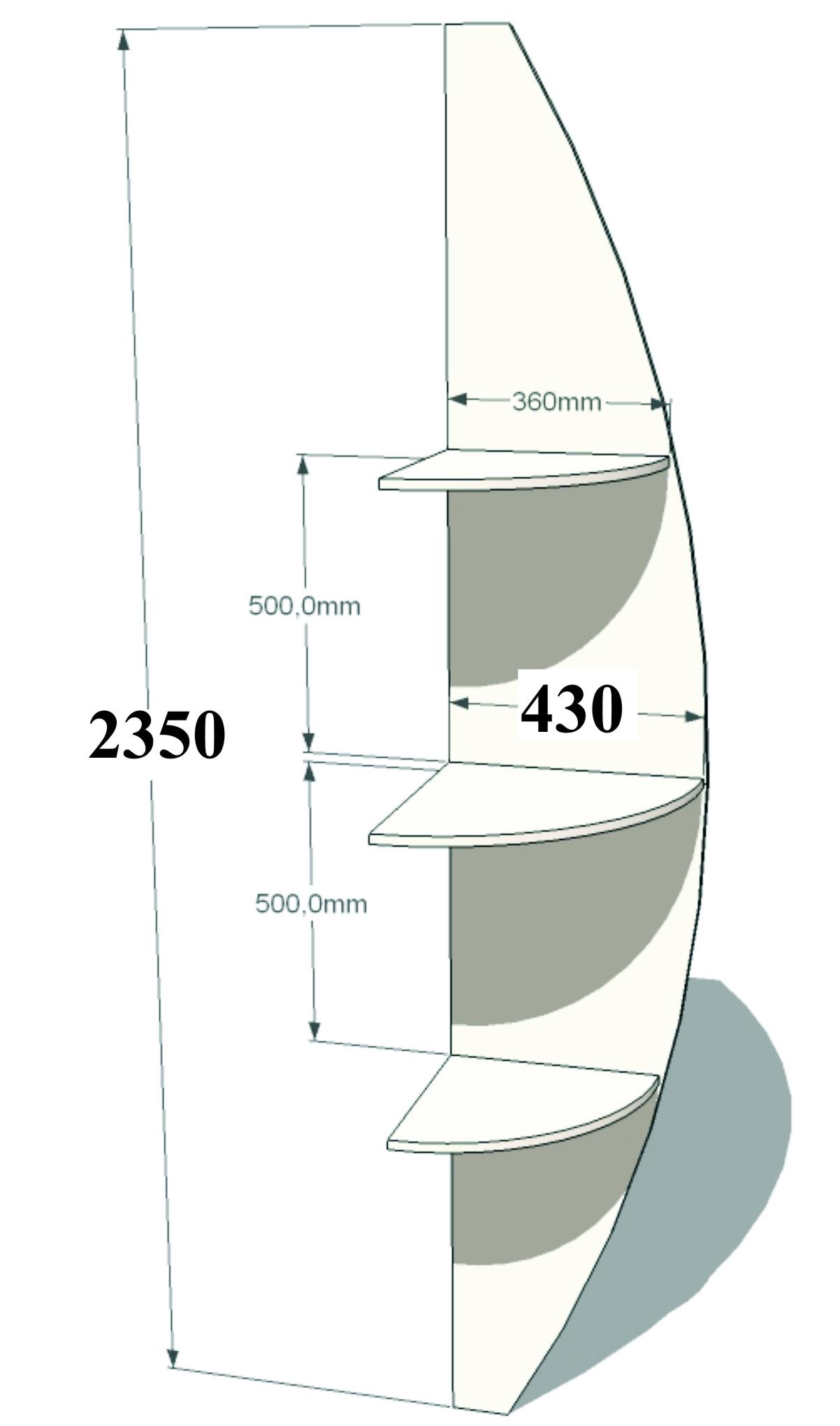 Угловой элемент радиусный алексис.